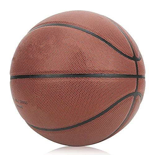 cigemay Baloncesto Interior Cuero de PU Tamaño 7 Baloncesto (24,5 cm / 9,65 Pulgadas) Entrenamiento Enseñanza Juego de Baloncesto Baloncesto para niños(No. 7 Basketball (Standard Ball))