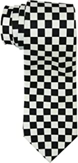 Black and White Checkered Skinny Tie