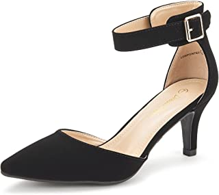 33d93da9e161 DREAM PAIRS Women s Lowpointed Low Heel Dress Pump Shoes