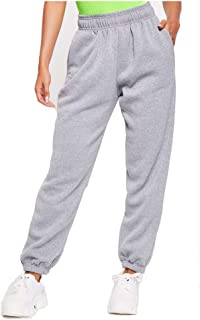 Comulish Women's Active High Waisted Lightweight Baggy Workout Sweatpants Joggers Lounge Trousers Sportswear with Pockets