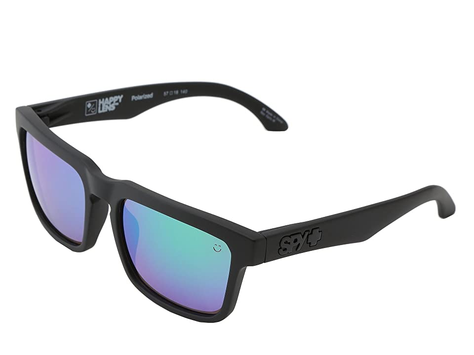 Spy Optic Helm (Matte Black-Happy Bronze Polar W/Green Spectra) Fashion Sunglasses