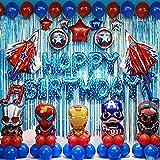 shengping Avengers Thema Party Dekoration Superhelden Geburtstag Anzug Spiderman Captain America Ballon Anzug