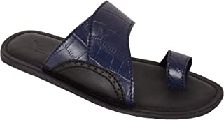 VONZO Men Black Trendy Sandal Chappal