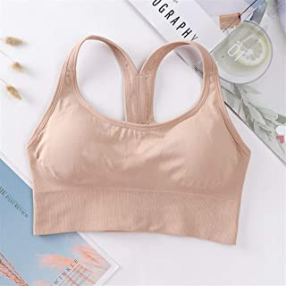 NJTSXLM Women Push Up Seamless Paded Breasted Sports Bra Workout Top Crop Fitness Active Wear for Yoga Gym Brassiere Wome...