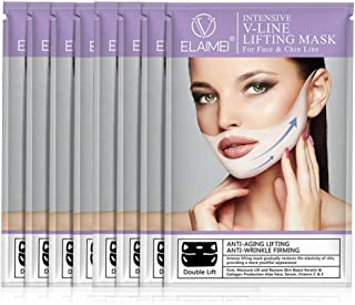 V Line Lifting Mask Chin up Patch, FOONEE 4 Pcs Contour Lifting Firming Moisturizing Mask, Double Chin Reducer, Soft Lifting Patch for Chin Up and V Line