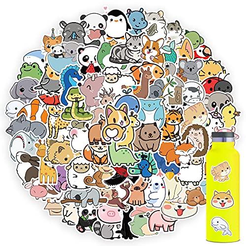 100PCS Cute Animal Stickers, Kawaii Animal Stickers, Vinyl Waterproof Stickers for HydroFlask Water Bottle Laptop Computer Skateboard MacBook, Animal Stickers for Teens Boys Girls Adults Gift