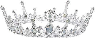 SOLUSTRE Baroque Crystal Crown Rhinestone Jeweled Queen Tiaras Vintage Bling Headband Wedding Bridal Hair Accessories for ...