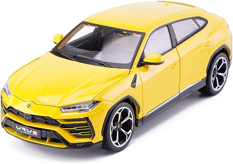 promociones emocionantes YSDHE 1 18 Modelo a a a Escala Urus SUV Racing Coche Die Cast Coche de Juguete para Niños pequeños Regalo de cumpleaños de Navidad (Color   amarillo)  alta calidad