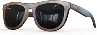 Polarized Bamboo Wood Sunglasses For Men & Women Featuring 10 LAYERED Lens |Wood Sunglasses With Distortion Free, Anti-Reflective & Anti-Scratch Lens -Light Weight Bamboo Sunglasses Wood Frame