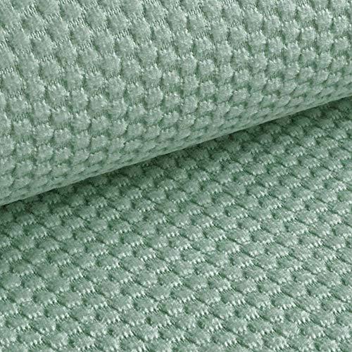NOVELY® MAKAO moderner und kuscheliger Möbelstoff mit 3D-Wabenmuster ULTRAWEICH (08 | EIS Blau)