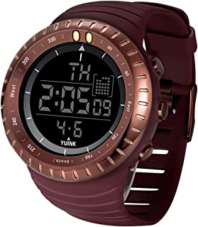 Men's Digital Sports Watch Large Face Waterproof Wrist Watches for Men with Stainless Steel...