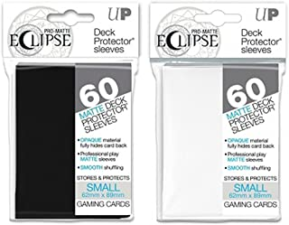 Ultra Pro Eclipse Sleeves Small Pro-Matte Deck Protector Black/White 2-Pack Bundle