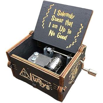 Caja de música temática de madera manivela belleza y la bestia ...