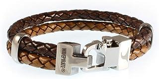 WAVEPIRATE Echt Leder-Armband Turn F Braun/Cognac Herrenarmband Männer