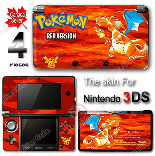 Pokemon 20th Anniversary Red Edition Pokémon Charizar Skin Sticker Cover for 3DS
