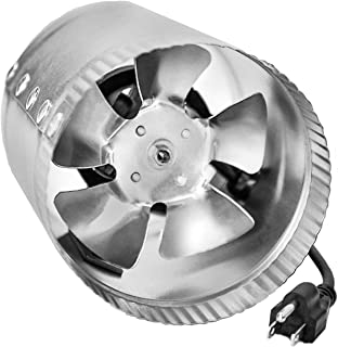 JPOWER 4 Inch 100 CFM Booster Fan Inline Duct Vent Blower for HVAC Exhaust and Intake 5.5' Grounded Power Cord