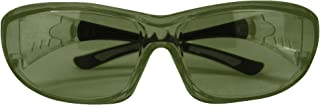SAFE HANDLER PrimeX IR3 Safety Glasses – IR3, Green, Anti-Scratch Anti Fog Wrap Around Lenses, Frameless, Adjustable templ...