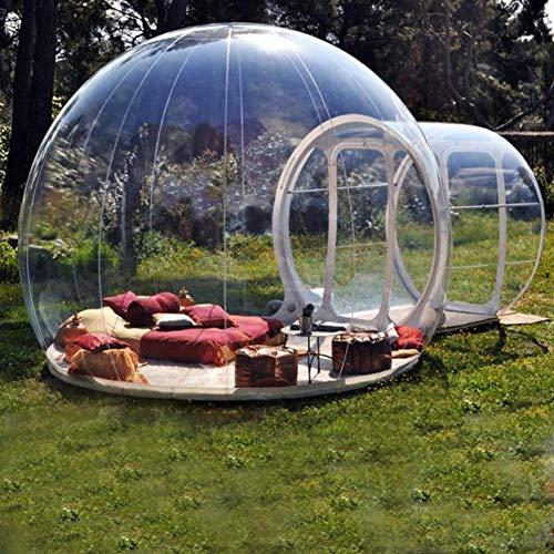 FJNS Tienda de campaña Transparente Inflable Casa de Burbuja Inflable Tienda de...