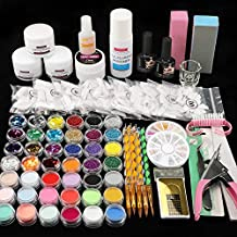 42 in 1 Acrylic Nail Kit Acrylic Powder and Liquid Set Nail Brush Nail Tips Nail Art Supplies Professional Manicure Set