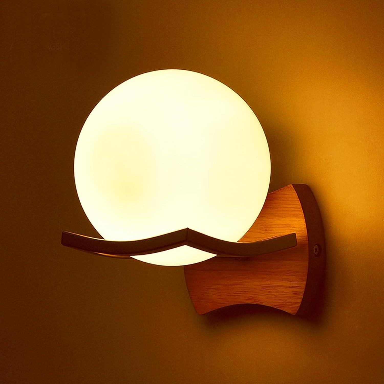 PIGE Studie Schlafzimmer Nachttischlampen Nordic kreative einfache Gang Ganglichter Lampen Wandleuchte Holzscheite ( gre   Single )