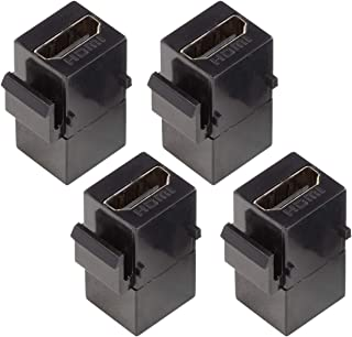 UCTRONICS HDMI Keystone Jack, 4-Pack HDMI Female to Female Insert Connector Adapter for 1U Rack Mount