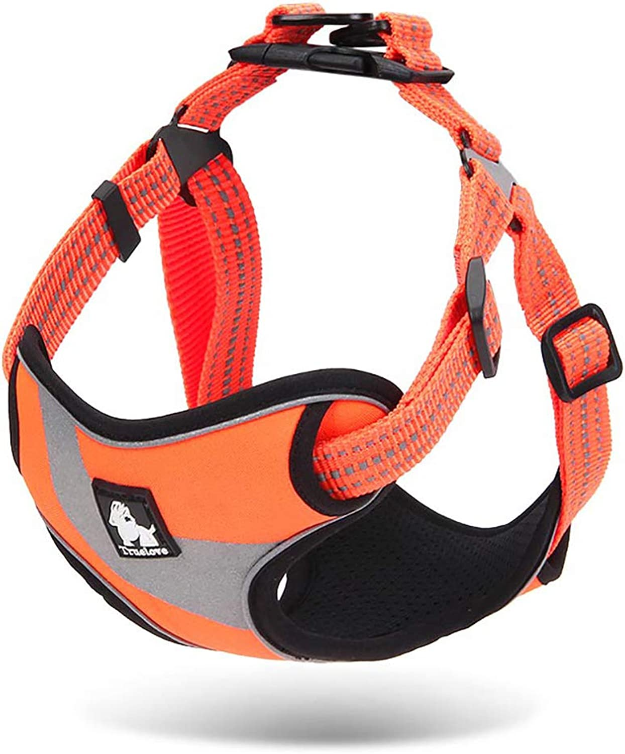 Dog Vest Harness,Adjustable No Oxford Material Dog Harness,Pet Reflective Quick Fit Mesh Vest for Dogs Easy Control for Small Medium Large Dogs,orange,S