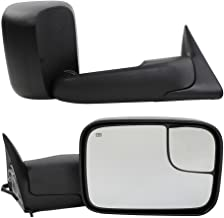 Roadstar Fit for Dodge Tow Mirrors Fit for 1998-2001 Dodge Ram 1500 & 1998-2002 Dodge Ram 2500 3500 Truck Power Heated Flip Up Manual Telescoping Folding Side Mirrors with Brackets