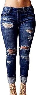 pantalones vaqueros mujer slim fit, Sannysis flaco pantalones largos lápiz Pantalones elásticos Stretch Jeans pantalones vaqueros mujer de vestir talla grande invierno