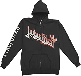 Judas Priest Men's Firepower Zippered Hooded Sweatshirt Black