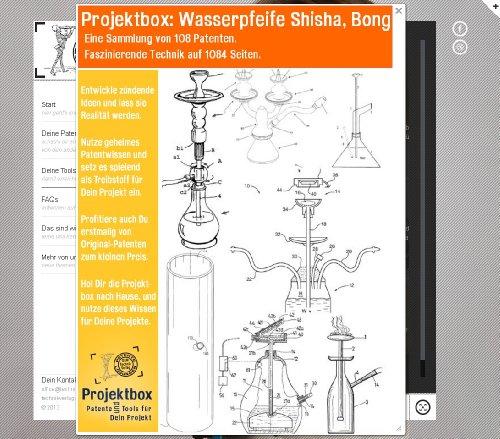 Wasserpfeife Shisha, Bong: Deine Projektbox inkl. 108 Original-Patenten bringt Dich mit Spaß hinter die Geheimnisse der Technik!