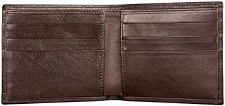 Mens Leather Wallet Bifold Men Wallet Casual Fashion Multi-Function Wallet for Shopping (Color : Brown, Size : S)