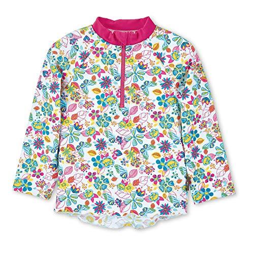 Sterntaler Mädchen Langarm-Schwimmshirt, UV-Schutz 50+, Alter: 2 - 3 Jahre, Größe: 86/92, Farbe: Weiß