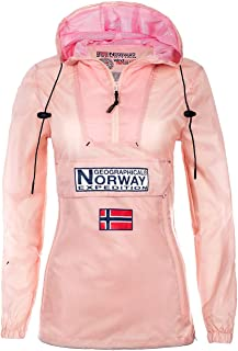 Geographical Norway Chaqueta impermeable cortavientos para mujer.