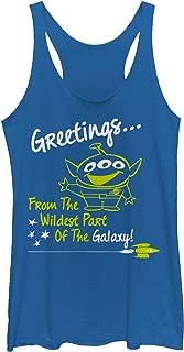 Toy Story Women's Alien Greeting from Wild Galaxy Racerback Tank Top