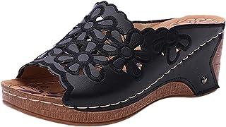 fa9da369e3fb82 WINJIN Chaussures femme Été Sandales Compensées Femmes Tongs Femmes  Chaussures de Plage à Talons Hauts Mules
