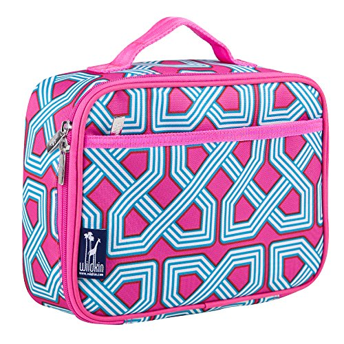 Wildkin Kids Insulated Lunch Box Bag for Boys and Girls, Perfect Size for Packing Hot or Cold Snacks for School & Travel, Measures 9.75 x 7.5 x 3.25 Inches, Mom's Choice Award Winner (Trellis)