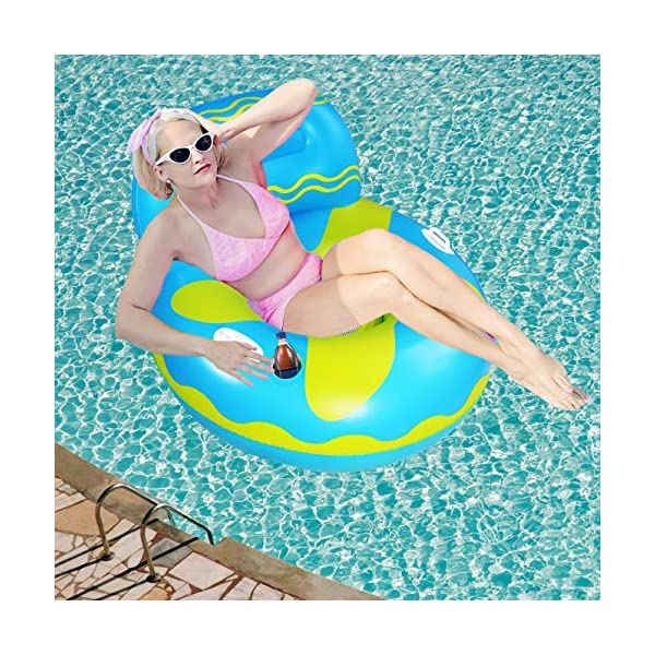 Hulsin Pool Floats, Inflatable Pool Float, Pool Lounge Chair, Pool Lounger, Swimming...