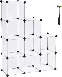 SONGMICS Cube Storage Organizer, Storage Shelves, White ULPC115S