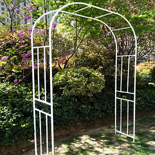 Iron Pergola, Outdoor Garden Arch, Metal Rose Arches, 2.4m High, Garden Arbor for Climbing Plants, Wedding Decoration Arch