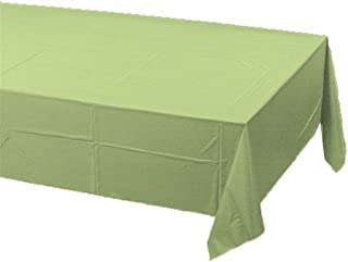 Creative Converting Touch of Color Plastic Table Cover, 54 by 108-Inch, Pistachio