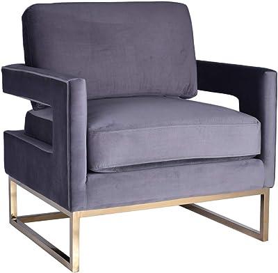 Amazon Com Armen Living Amber Contemporary Upholstered