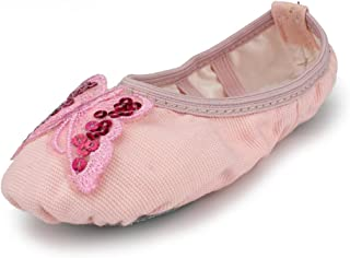 MSMAX Girl's Classic Ballroom Ballet Dance Slipper