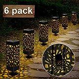 Nasharia Solarleuchte Garten Outdoor, 6 Stück Solar Gartenleuchte, Solarlampen für Außen LED...