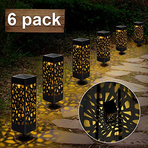 Nasharia Solarleuchte Garten Outdoor, 6 Stück Solar Gartenleuchte, Solarlampen für Außen LED Solar Taschenlampe IP65 Wasserdicht