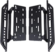 HobbyPark Metal Side Pedal Step Running Boards Foot-Plate for Axial SCX10 1/10 RC Crawler Body Shell Parts (Black)