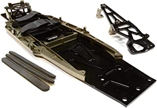 Integy RC Model Hop-ups C26146GREY Billet Machined Complete LCG Chassis Conversion Kit for Traxxas 1/10 Slash 2WD