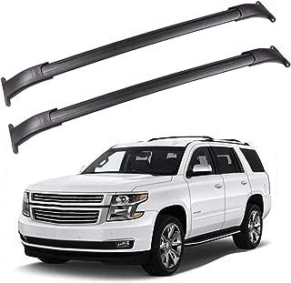 ROADFAR Roof Rack Aluminum Top Rail Carries Luggage Carrier Fit for 2015 2016 2017 2018 GMC Yukon/Chevrolet Tahoe/Chevrolet Suburban/Cadillac Escalade Baggage Rail Crossbars