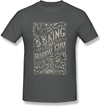 FULEN Hombre Buddy Guy 2015Tour 100% Camiseta de algodón