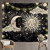 Árbol de la vida tapiz de sol y luna estética psicodélica sol...