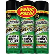 Spectracide Wasp and Hornet Killer Aerosol, 20-Ounce, 3-Pack
